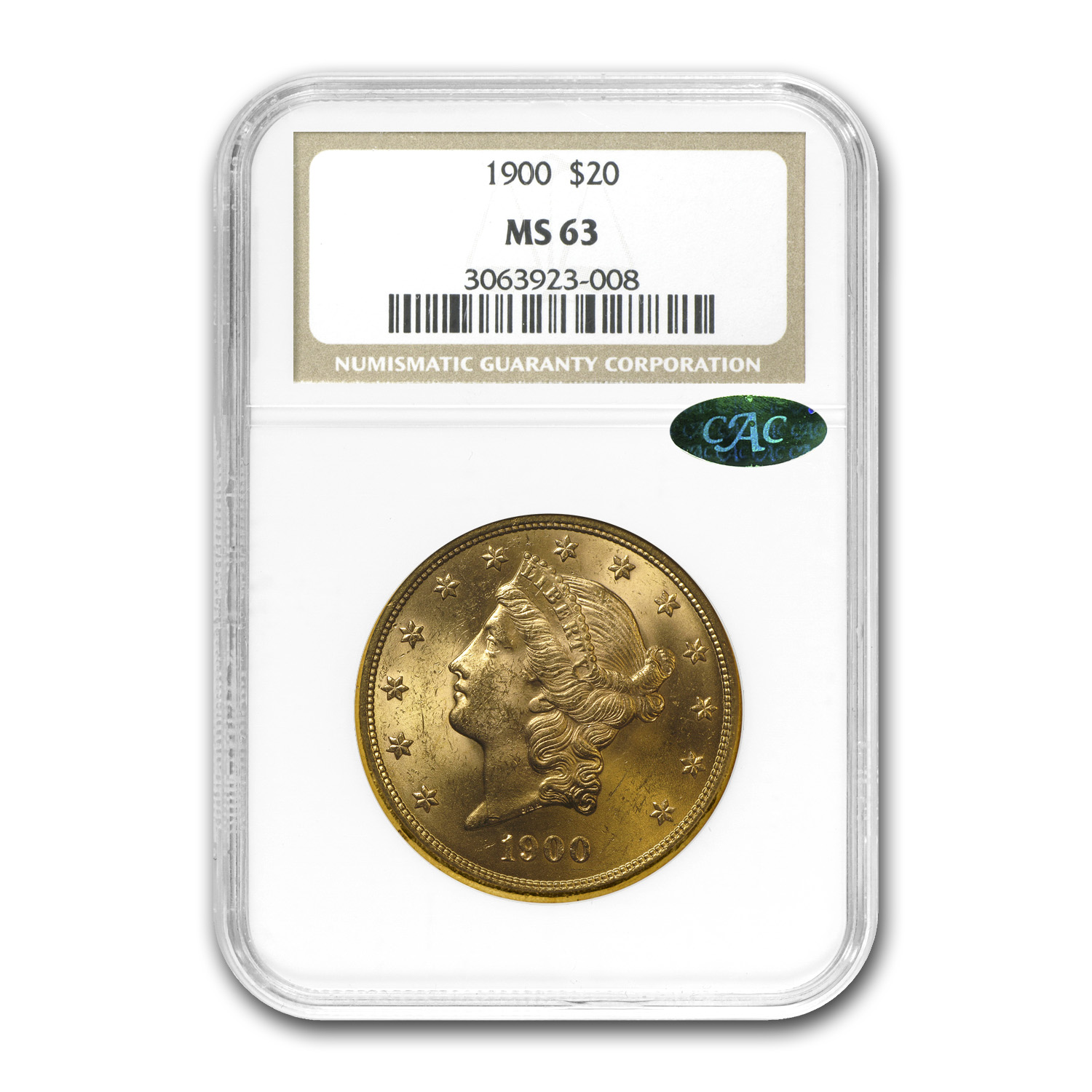 $20 Liberty Gold Double Eagle MS-63 PCGS/NGC (CAC, Random)